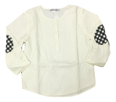 Petit Clair Cream Patch Shirt - Black