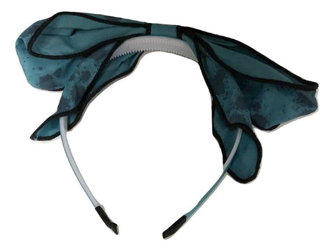 Blinq Paint Splatter Bow - Teal