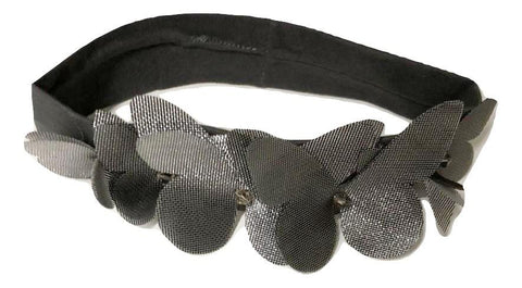 Blinq Baby Mesh Butterfly Headband - Charcoal