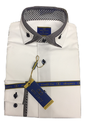 Alfa Perry White Shirt - Blue Collar