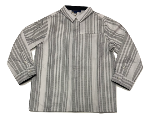 Alfa Perry White and Black Striped Shirt