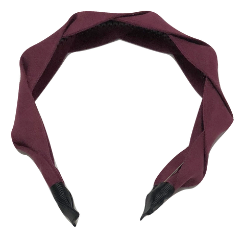 Mini Mrs Suede Twist Headband - Raspberry