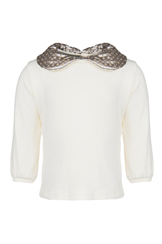Frenchy Yummy Girls Top with Gold Collar