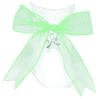 Net Charm Bow Anklet Socks - Mint