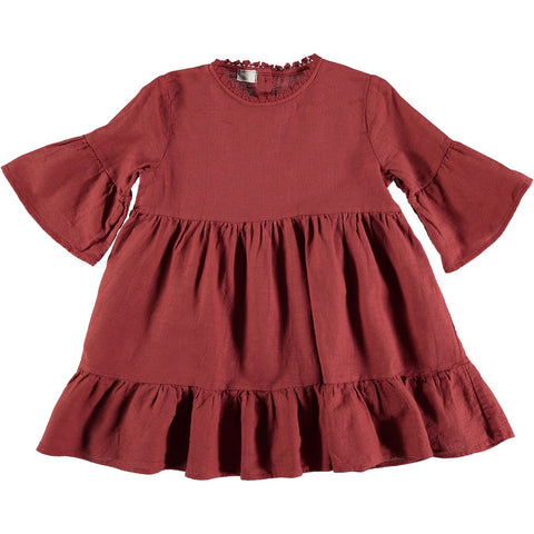 Buho Jimena Dress Vintage Red