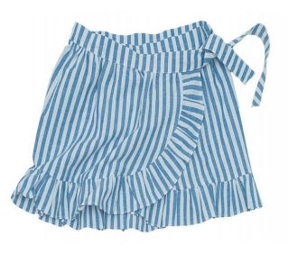 Alisette by B Neva Ray Striped Wrap Skirt