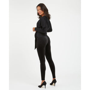 Spanx Velvet Leggings in Black 2070