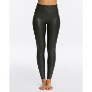 Spanx Faux Leather Black Leggings 2437