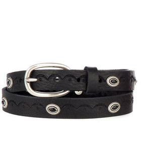 Brave Leather Francis Studded Leather Belt 3225