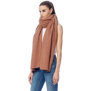 360 Cashmere Nadine Sumptiously Soft and Cozy Long Silhouette Scarf in Toffee 32986
