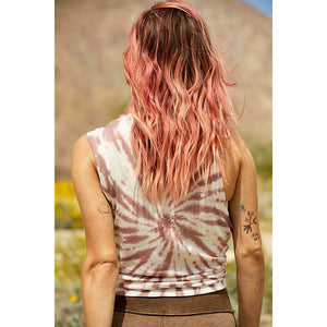 Free People Love Tie Dye Tank in Fireside 50334630