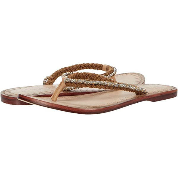 Free People Menorca Sandal in Tan & White