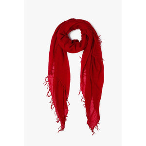 Chan Luu Biking Red Cashmere And Silk Scarf BRH-SC-140WEBBIKRED