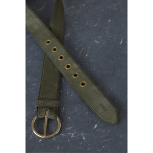 Closed Suede Belt in Lentil C90112-89D-S4-684