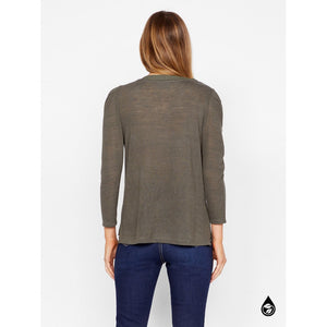 Sanctuary Hanna Pleated Sleeve Top in Forest