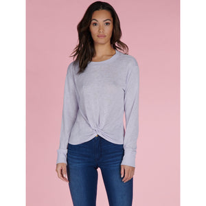 Sanctuary Knotted Tee in Purple Heather CT3084KRS