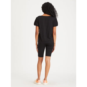 Sanctuary Bubble Sleeve Tee in Black