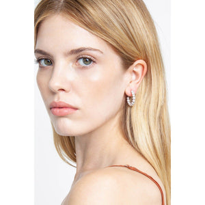 Chan Luu Grey Pearl Holly Hoop Earrings ES-5284-GREY-PEARL