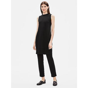 Eileen Fisher Tencel Jersey Mock Neck Dress F9FTJ-D4589M