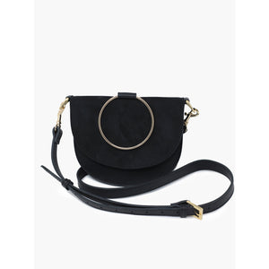 Fashionable ABLE Fozi Slim Satchel in Black