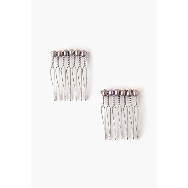 Chan Luu Pearl Duo Hair Combs HA-HCS-010