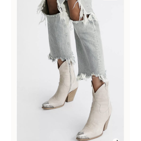 Free People Brayden Western Boot in Bone  55730378