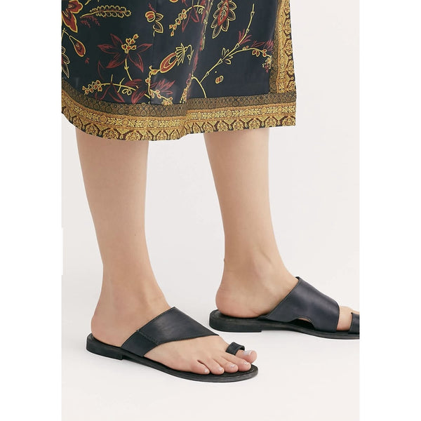 Free People Sant Antoni Slide in Black 48498786