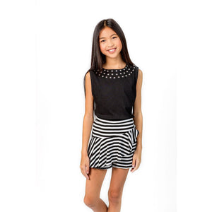 MIA Girls Striped Skort