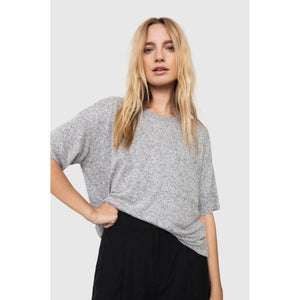 Rails Micah Melange Grey Short Sleeve Top 831-351-586
