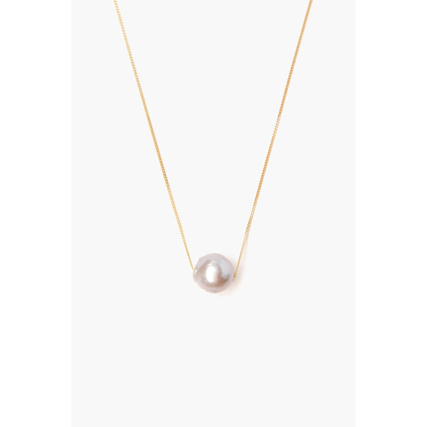 Chan Luu Grey Pearl Long Floating Necklace NG-13511-GREY-PEARL