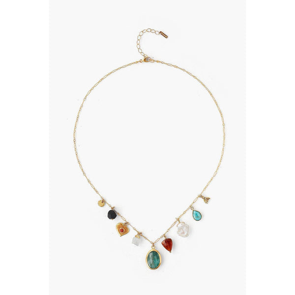 Chan Luu Multi Mix Donna Charm Necklace NG-14012-MULTI-MIX