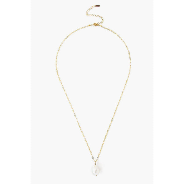 Chan Luu White Baroque Pearl and Gold Midi Necklace NG-14116-WHITE-PEARL