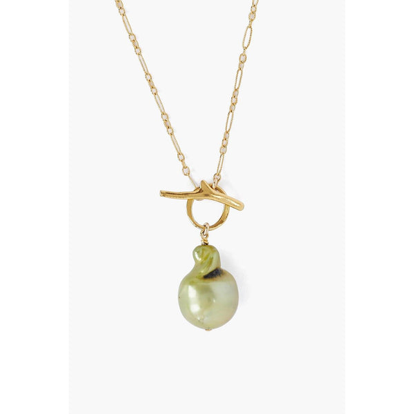 Chan Luu Green Freshwater Pearl Toggle Necklace NG-14222