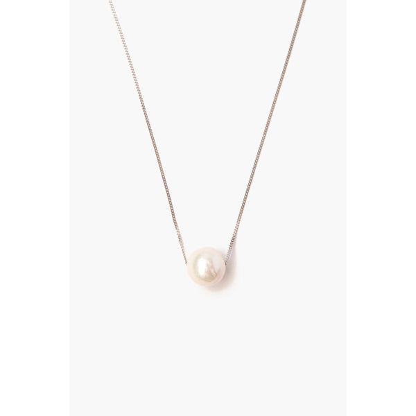 Chan Luu White Pearl Long Floating Necklace NS-13511-WHITE-PEARL