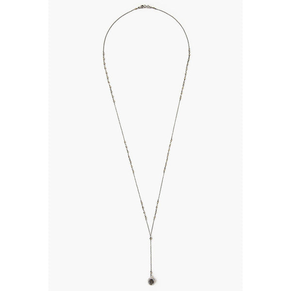 Chan Luu Pyrite Mix Pendant Y-Necklace NS-14155