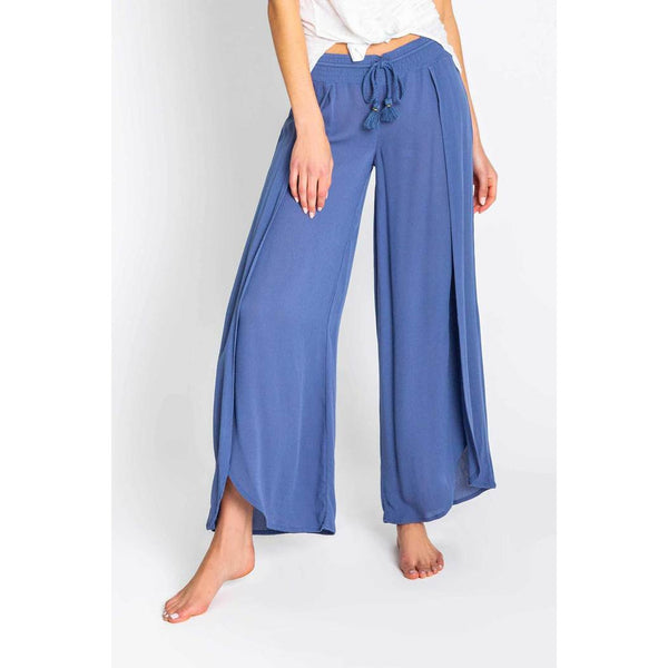 PJ Salvage Beach Blues Flowy Pant in Denim Blue RSBBP2-NAVY