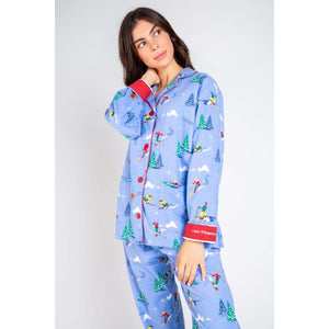PJ Salvage Alpine Snow Flannel Pajama Set RUFLPJ