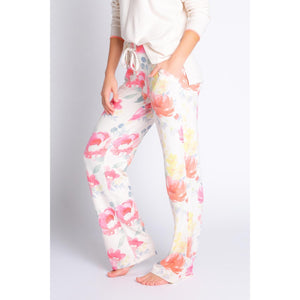PJ Salvage Floral Print Happy Blooms Lounge Pant in Oatmeal RXBHP1-OATMEAL