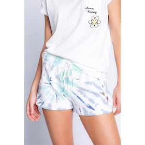 PJ Salvage Smiley Tie Dye Lounge Short RXDOS-NAVY