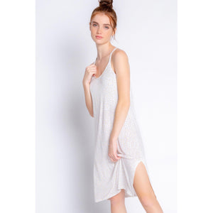 PJ Salvage Relaxed Strappy Slip Dress in Ivory Leopard RXSMD-IVORY