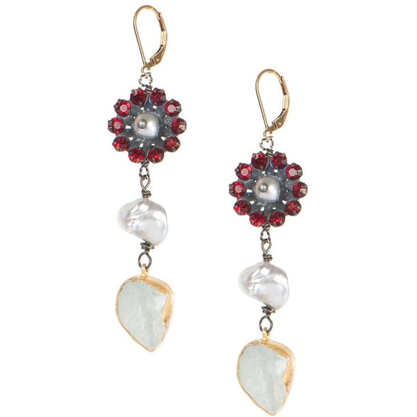 Love Heals Vermilion Earrings