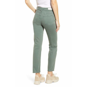 AG Jeans Isabelle Button Fly High Rise in Sulphur Fresh Thyme DSD1782