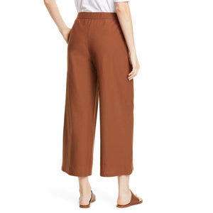 Eileen Fisher Lightweight Washable Stretch Crepe Wide-Leg Ankle Pant F9TL-P8267M