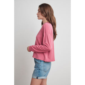 Velvet by Graham and Spencer Haley Long Sleeve Pullover in Candy