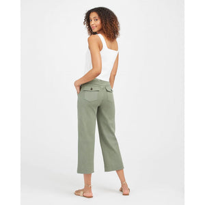 Spanx Stretch Twill Cropped Wide Leg Pant in Soft Sage 20312R