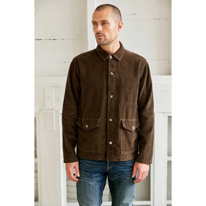 Velvetmen Grayson Corduroy Button-Up in Dillweed or Black
