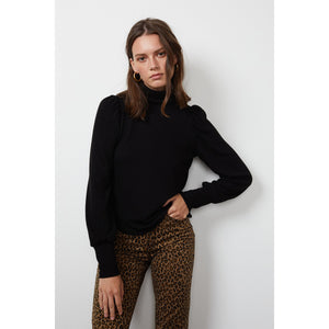 Velvet by Graham & Spencer Rue Lux Turtleneck Sweater in Black