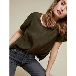 Nation Marin Boxy Crop Top in Commander 2116JS