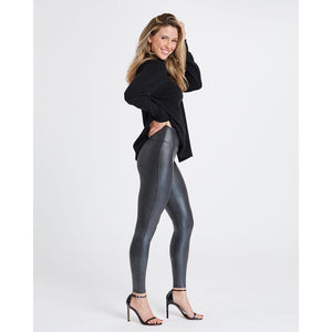 Spanx Faux Leather Pebbled Leggings in Pebble Grey 20186R
