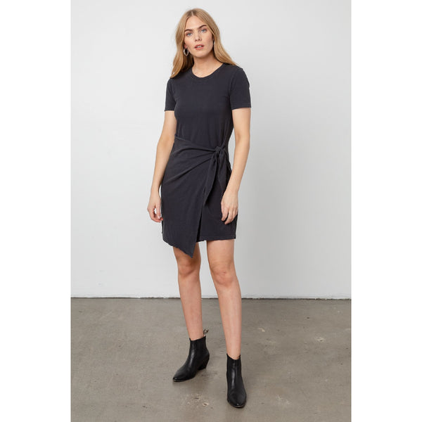 Rails Edie Cotton T-Shirt Dress in Vintage Black 800-245-1763